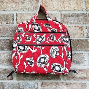 Vera Bradley 》 Red Daisy Quilted Cosmetics Bag